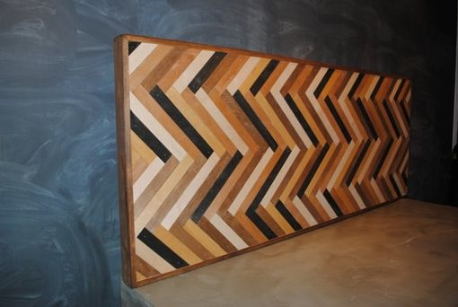 Custom Made Herringbone Headboard Or Wall Decor