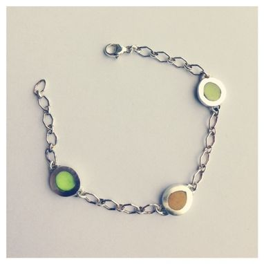 Custom Made Ksj Birthstone Equivalent 3 Pebble Bracelet