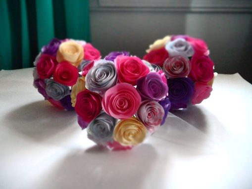 Custom Made Spiral Paper Roses Bouquet