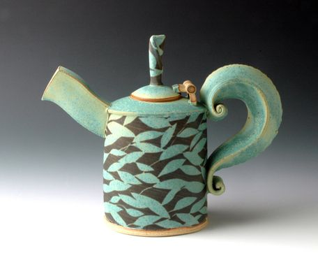 Custom Made Teapot With Hinged Lid