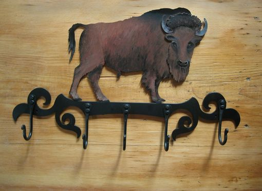 Custom Made Handcrafted Buffalo Coat Rack