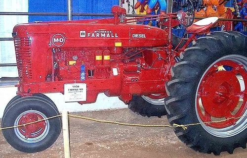 Custom Made Antique Red Tractor