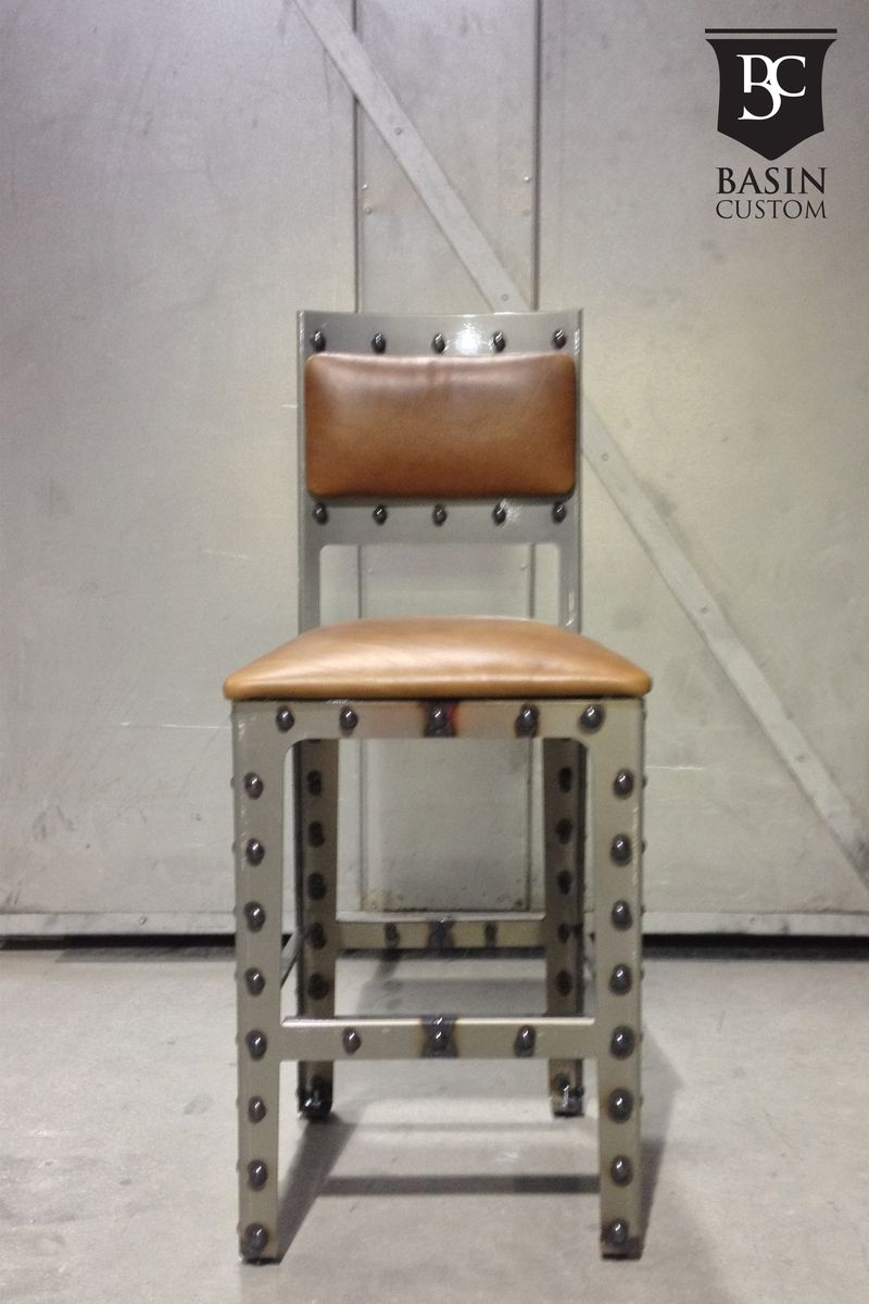 Hand Made Custom 24 Quot Industrial Bar Stools With