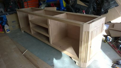 Custom Made Knotty Alder Custom Entertainment Center