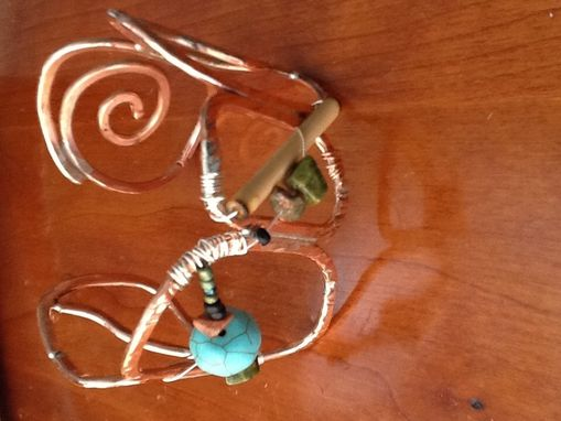 Custom Made Handmade Copper Fan Pulleys And Crystals