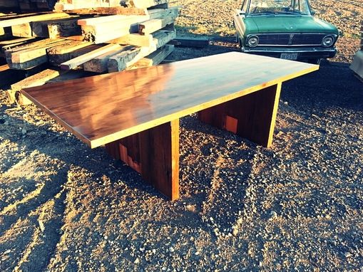 Custom Made Rustic Beech Plank Dining Table