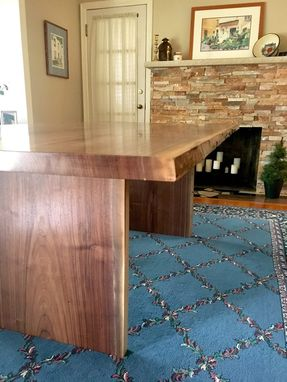 Custom Made Live Edge Book Matched Solid Walnut Dining Table