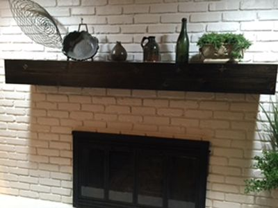 Custom Made Living Room Mantle
