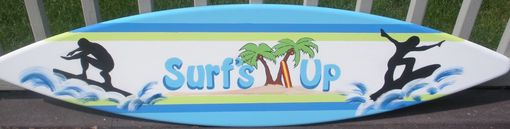 Custom Made 4ft Surf Surfboard Wood Wall Art Decor Sign