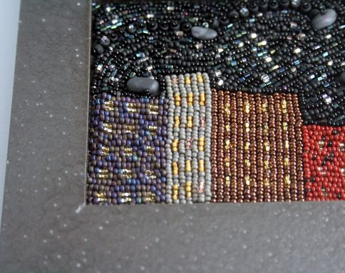 Custom Made Bead Embroidered Painting