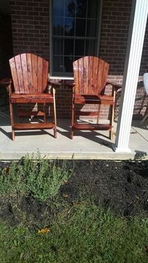 Custom Made Adirondack Chairs And Matching Tablesj