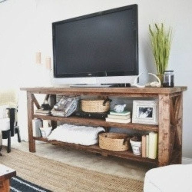 Hand Crafted 6ft Rustic Barn Style Tv Stand Sofa Table Entrance By Mayhem Furniture Co Custommade