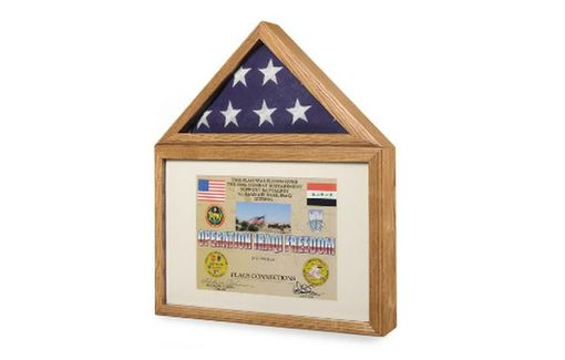 Custom Made Flag Display Case - Flag Shadow Box, Flag And Medals Case
