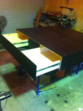 Custom Made Ultra Modern Large Coffee Table With Pull Out Drawer
