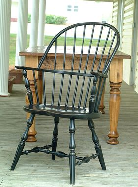 Custom Made Set Of 6 Windsor Dining Chairs