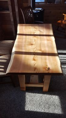 Custom Made Cedar Slab Iive Edge Table
