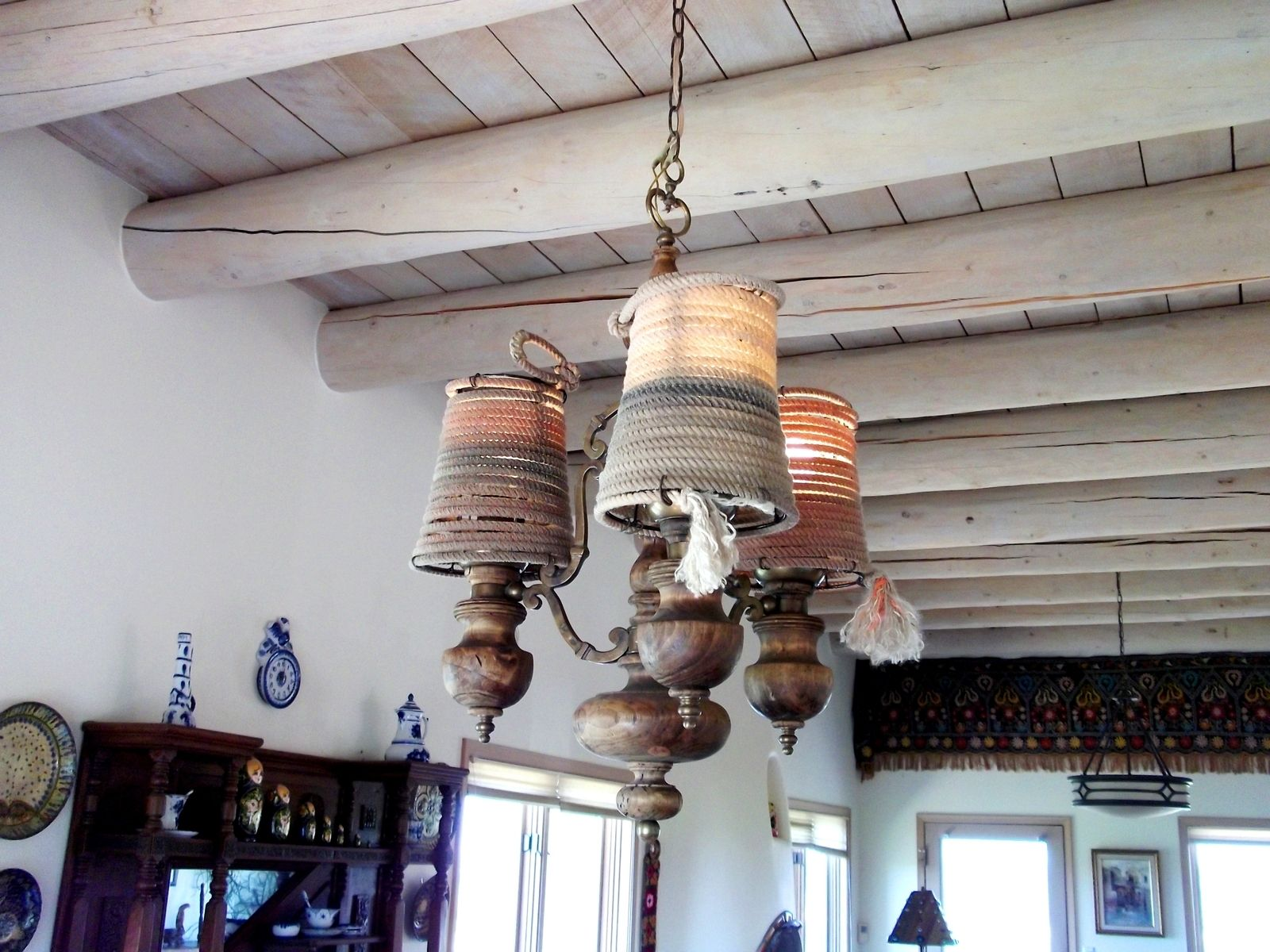 Hand made rustic style lamp shade western rope lamp shade by junk custom made rustic style lamp shade western rope lamp shade mozeypictures Gallery