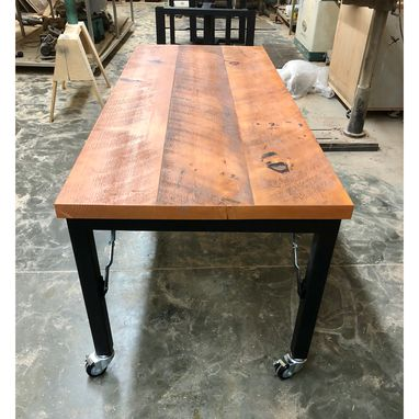 Custom Made Reclaimed Table With Folding Legs