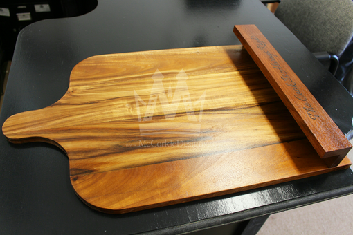 Custom Made 2 In 1 Acacia Wood Cutting Board & Cookbook Stand Perfect For Cooks, And Chefs !