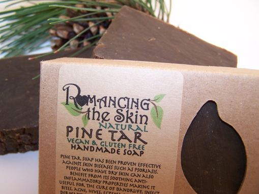 Custom Made Pine Tar Handmade Lye Soap (Vegan & Gluten Free)