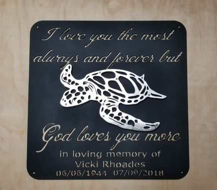 Custom Made Double Layer Turtle Sign