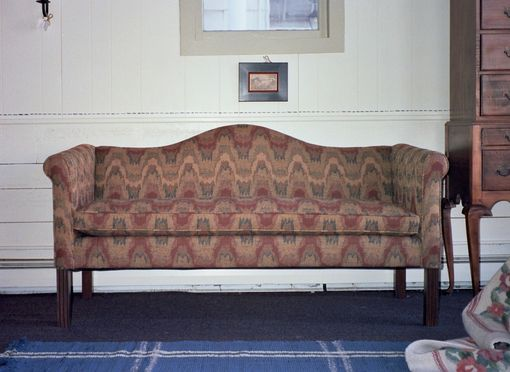 Custom Made New England Camel Back Sofa