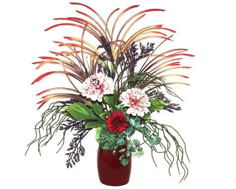 Hand crafted tropical decor flower arrangement dining for Dining room flower arrangements