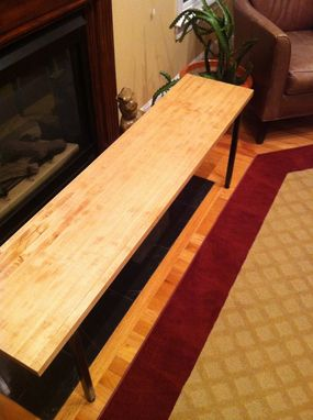 Custom Made Maple Or Oak Bench With Steel Base