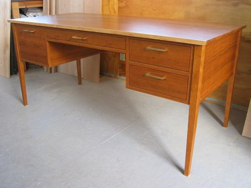 Custom Made Cherry , Mid Century Modern , Shaker Office/ Writing Desk