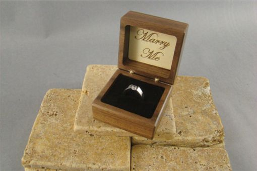 Custom Made Inlaid Engagement Ring Box With Free Engraving And Shipping. Rb-34