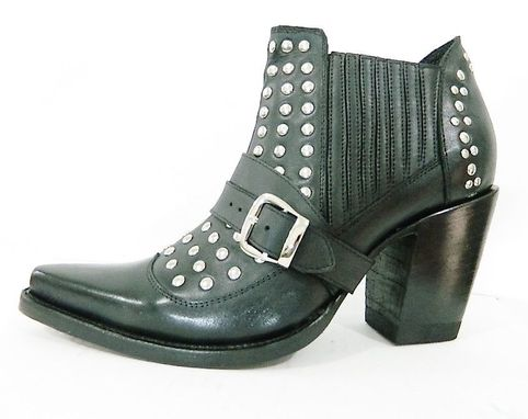 Custom Made Ankle Boots Made To Order Ankle Men Boots With Or Without Metallic Studs And Elastic Side