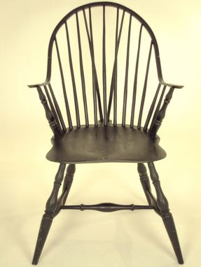 Custom Made Continuos Arm Brace Back Windsor Chair