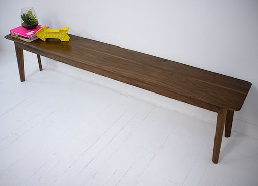 Custom Made Mid Century Modern Inspired Walnut Bench, Dining Table Bench, The Santa Monica Bench