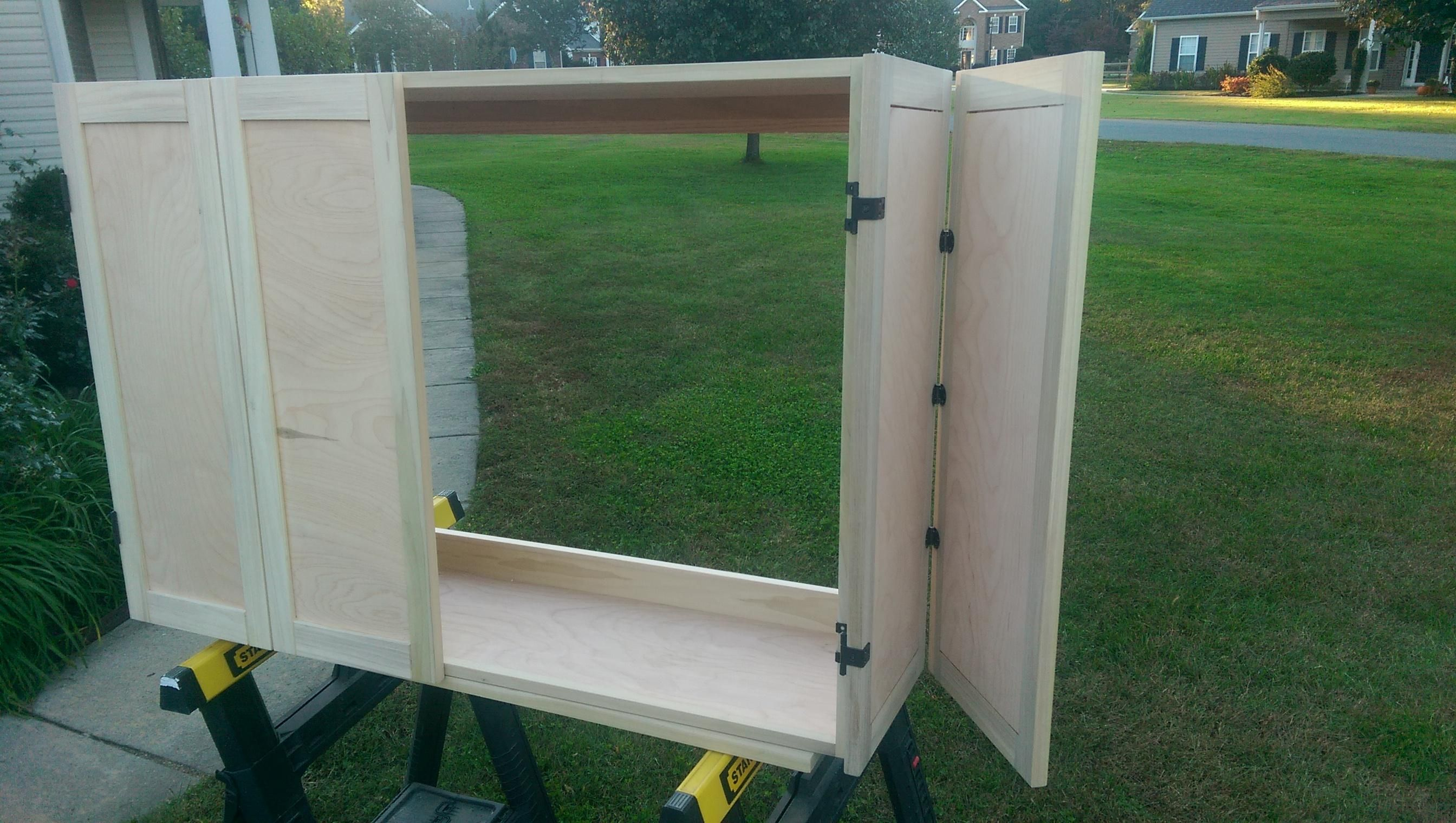 Handmade Wall Mounted Tv Cabinet With Doors By Jho Studios Llc