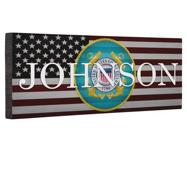 Custom Made Hero Coast Guard Flag Canvas Wall Art