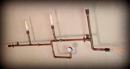 Custom Made Copper Wall Art Light Sculpture