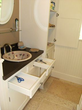 Custom Made 2nd Floor Bath Remodel With Custom Cabinets