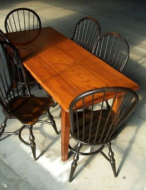 Custom Made 7ft Farmhouse Tables With Fruitwood Finish & Straight Legs