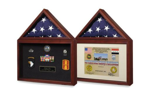 Custom Made Flag Plus Certificate Display Case