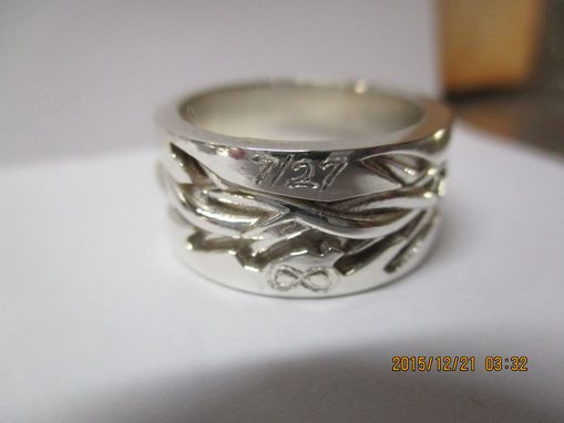 Custom Made Crown Of Thorns Ring Custom Hand Engraved