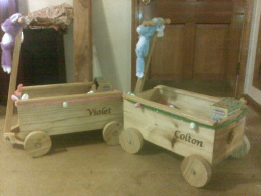 Custom Made Custom Printed Wooden Wagons