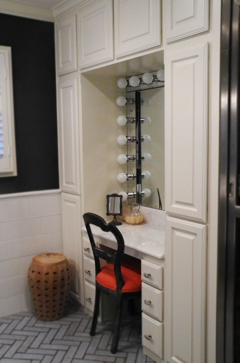 Handmade custom built vanity by trevor thurow custom for Closet vanity ideas