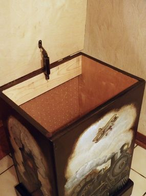 Custom Made Custom Designed Wooden Hamper And Wastebasket