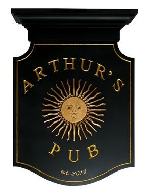 Custom Made Custom Carved Tavern/Bar Sign