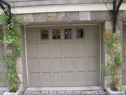 Custom Made Bevel Glass Design For Garage Doors In Greenwich, Ct