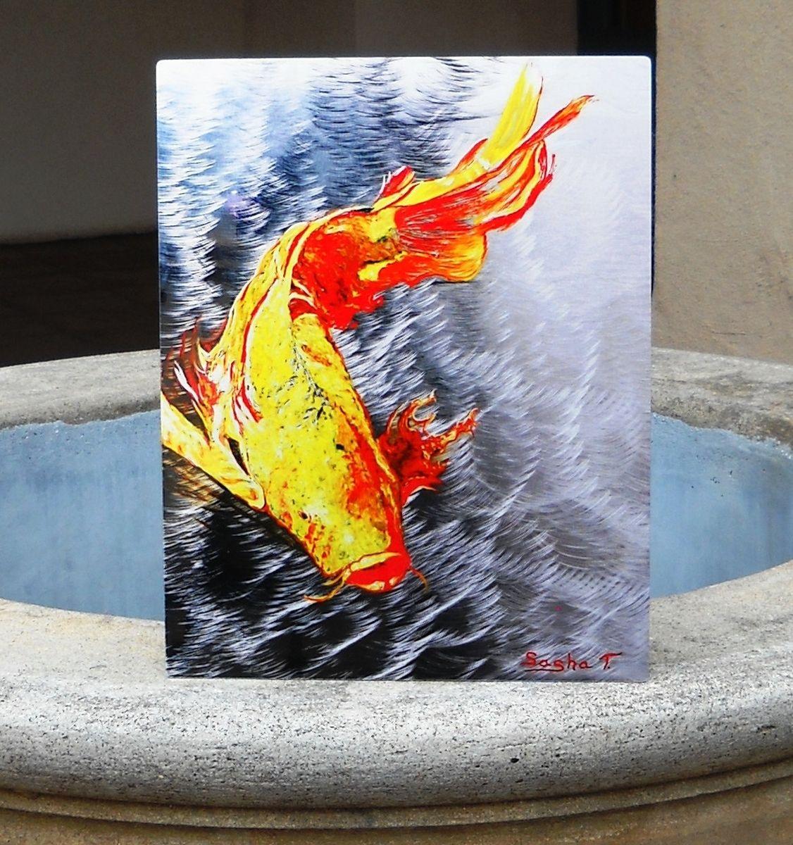 Custom koi fish aluminum print unique gift for any home for Koi fish gifts
