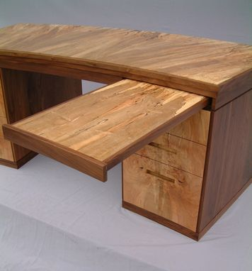Custom Made Spalted Maple And Walnut Desk