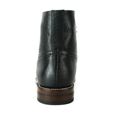 Custom Made Hesse Black Pebbled Leather Heavy Duty Ankle Balmoral Boots. (All Sizes)