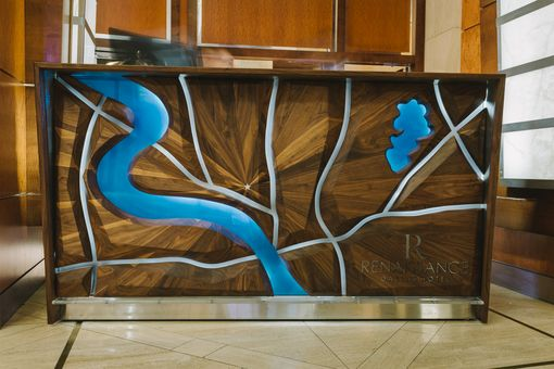Custom Made Hotel Mosaic Reception Desk