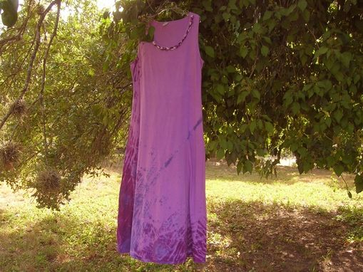 Custom Made Crochet Embellished Shibori Dyed Sleeveless Long Cotton Dress